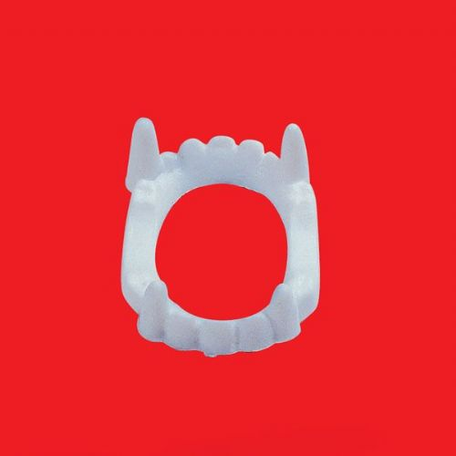 Teeth Double set in bag Halloween Fake Ugly Scary Funny Fancy Dress Accessory